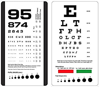 KASHSURG Rosenbaum/Snellen Pocket Eye Chart,Set of Two Charts in a Pouch