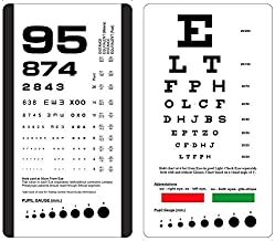 KASHSURG Rosenbaum/Snellen Pocket Eye Chart,Set of Two Charts in a Pouch