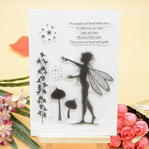 Welcome to Joyful Home 1pc Cute Girl Clear Stamp for Card Making Decoration and Scrapbooking