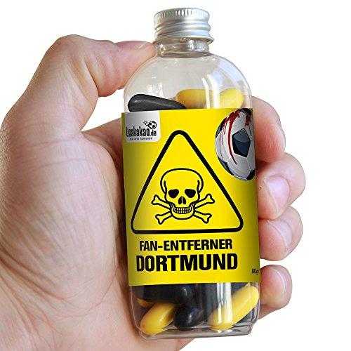 Fan-Entferner Dortmund | Lakritz Giftköder zur effektiven Abwehr von Dortmund-Fans | Schalke-, Bayern & alle Fußball-Fans Aufgepasst, diesen Süßigkeiten kann kein Freund widerstehen | Lakritz