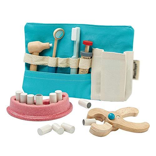 PN-Braes Kit de médicos para niños Juego de Simulación casa del Juego Dentista Doctor Girl de Juguete de Madera Neutral Equipo de Juegos Infantiles (Color : Photo Color, Size : 23x7.5x18.8cm)