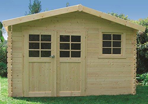 Gartenhaus Kesseldruckimprägniert Betula S8275-1 - 28 mm Blockbohlenhaus, kesseldruckimprägniert, Grundfläche: 10,67 m², Satteldach