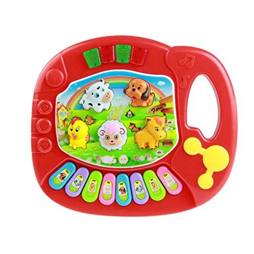 Mingtongli Instrumento musical del teclado del juguete del bebé niños granja de dibujos animados del desarrollo de la música juega el regalo para la Educación