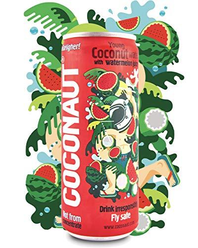 COCONAUT Kokoswasser Wassermelone (12 x 320ml Dose) 90% Pures Kokosnusswasser + 10% Melonensaft