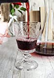 Sendez 6 Weingläser mit Relief 280ml auf Fuß Rotweingläser Weißweingläser Saftgläser Trinkgläser - 6