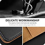 HOOMIL for Huawei P Smart 2021 Case, Flip Leather Wallet Phone Case for Huawei P Smart 2021 Cover (Black)