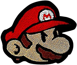 Super Mario Brothers bricolaje o disfraces dinosaurio flor ideal para proyectos retro para planchar o coser sobre insignia de recuerdo Parches bordados de 8 cm con dibujos de Yoshi