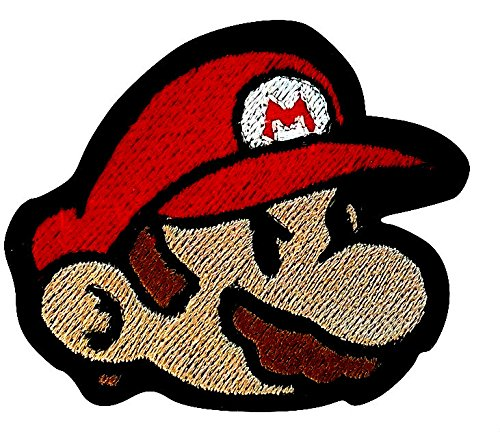 Mario Patch (9 cm) Super Mario Brothers Geborduurd Ijzer of Naai op Badge Applique Souvenir Retro DIY Kostuum Wereld Kart Alle Sterren Snes