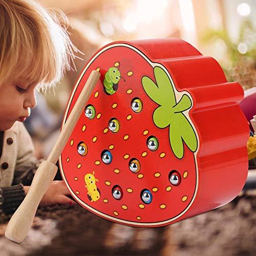 Juguetes educativos con Forma de Fruta, Juguetes educativos Resistentes para Habilidades de reconocimiento de Colores para Promover el Desarrollo Intelectual Durante 36 Meses y más para(Strawberry)