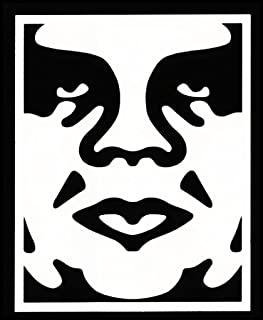 CCI Obey Anonymous Decal Vinyl Sticker|Cars Trucks Vans Walls Laptop| White |5.75 x 4.5 in|CCI1297