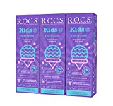 R.O.C.S. Kids Fruity Cone Whitening Toothpaste - Enamel Whitening Teeth Gum Protection for Children 3-7 Years Old   Delicious Flavors Safe to Swallow - Natural No Fluoride or Sulfate