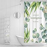 XTUK Home Decor Duschvorhänge Geometrische Pflanze Badvorhänge Wasserdicht Mehltau Duschvorhang Toilette Badezimmer Trennvorhang Ungiftig & geruchlos, wasserabweisend 120X200CM