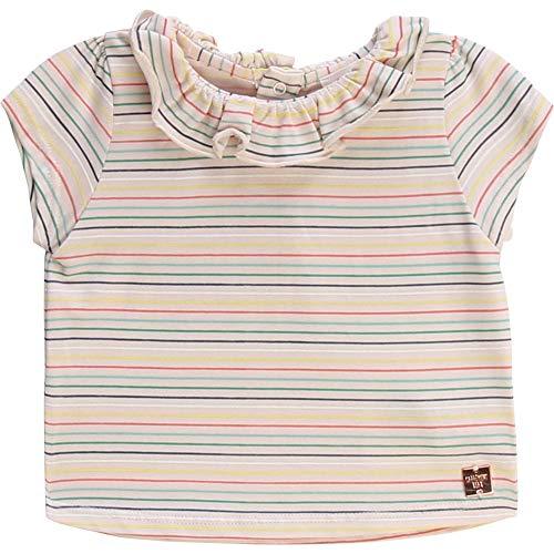CARREMENT BEAU T-Shirt en Coton et Modal rayé Bebe Couche ROSEE du Matin 18MOIS