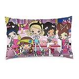 K-Uu K-Uu Sunny Hara-Ju-Ku Double-Sided Super Soft Pillow Cover for Bedroom Unique Pillowcase with Hidden Zipper 14' X20