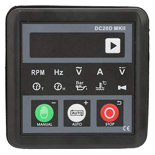 Controlador de generador,Módulo de arranque automático de generador electrónico DC20D MKII,panel de control para motor diesel o generador,arranque/parada automáticos,indicación de protección y
