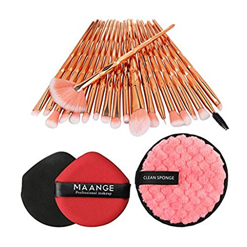 Posional Pinceaux Maquillages Professionnels, 20PCS Set/Kit Sourcils Eyeliner Anticernes Premium Coloré Cosmétique Brush pour Fusion de Fond de Teint Concealer Yeux