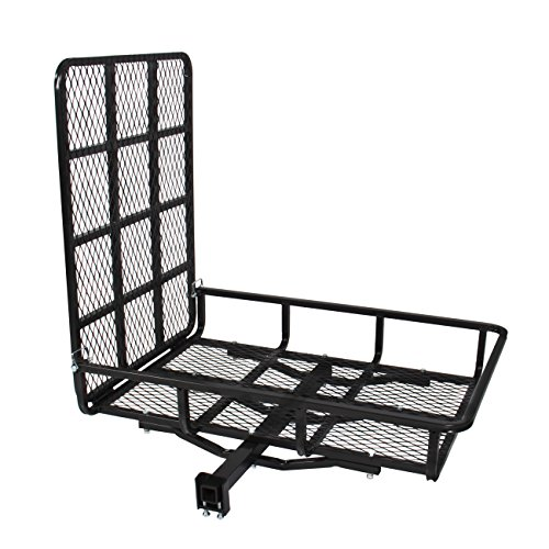 Best Choice Products Hitch Mount Carrier with Mobility Ramp for Wheelchair Scooter, 500lb Capacity