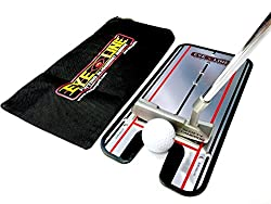 Create gates for precision training. Sweet spot training with the putter gate. Path gates. Stroke length. This training aid is small and compact in size and comes with a soft carry bag. Mirrored surface for instant feedback. See your eye position, he...