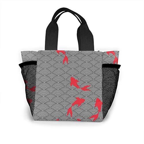 not applicable Die wiederverwendbare Einkaufstasche Roter Karpfen die Einkaufstasche Ripstop Polyester oder die Lunch-Tasche