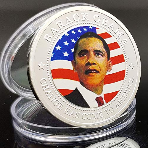 LSJTZ Liverpool, USA, Präsident, Barack Hussein Obama, Negro, Sammlung, Gedenkmünze, versilbert, Harvard Law School, Schöne, Geschenk, 2pcs