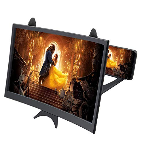 ENTBI Bildschirm-Vergrößerung, 30,6 cm (12 Zoll), Bildschirm-Vergrößern, Telefon-Vergrößerung, 3D-Bildschirm, Vergrößerung, Glas-Verstärker, für alle Smartphone-Modi