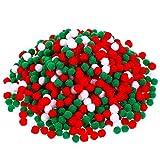 600 pompones esponjosos pompones de fieltro, bolas de pompón, pompones pequeños para manualidades, decoración de Navidad, Pascua, manualidades, manualidades (1 cm)