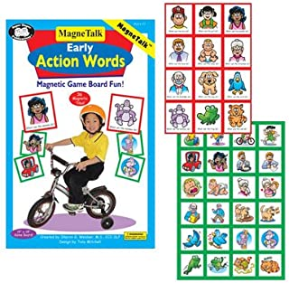 Super Duper Publications Magnetic Early Action Words Board Game -