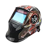 ZHQHYQHHX Caretas para soldar Soldadura Máscara de Filtro óptico 4 Sensores CE EN379 Auto Solar Soldadura de oscurecimiento Casco (Color : Sun9B Thunder, Size : Gratis)