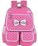 Kids Waterproof Backpck Schoolbag Pink