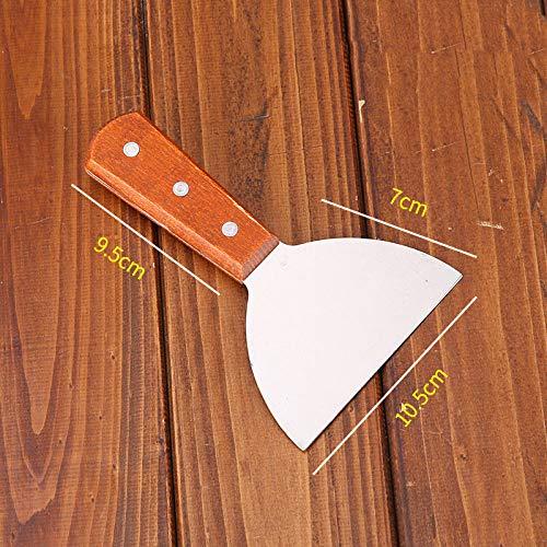 Gebakken schop Pannenkoekclip Draai de braadschep om Teppanyaki huishoudspatel Keuken drukschep Gebakken vis pizza spatel-Chocolade schop_1