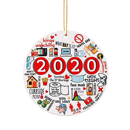 2020 Christmas Ornaments,Covid Commemorative Ornament,Pandemic Ornament,Quarantine Christmas Ornament Christmas Tree Hanging Decorations,Christmas Decor Gift for Family, Friends (6)