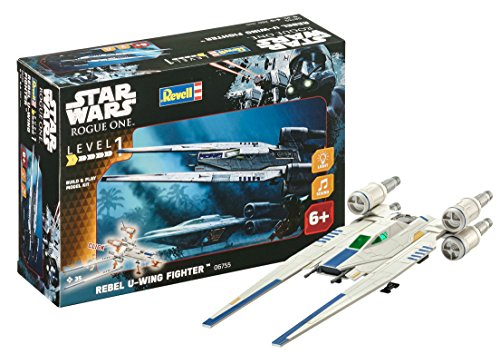Revell Star Wars Build & Play Rebel U-Wing Fighter, con Luces y Sonidos, Escala 1:100(6755)(06755), 28,0 cm de Largo