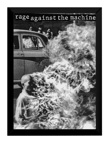 Quadro Rage Against The Machine Banda Capa Poster Moldurado