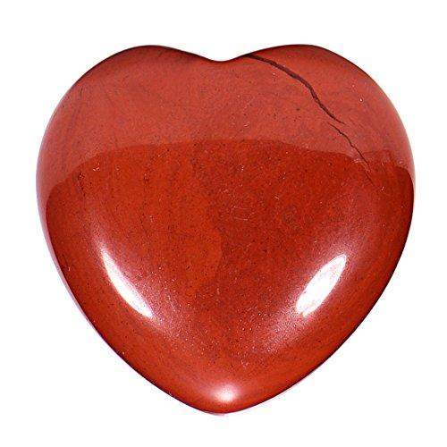 Morella Edelstein roter Jaspis Herz Glücksbringer Steinherz zum Mitnehmen 3 cm in Samtbeutel