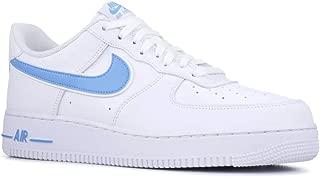 Nike Men's Air Force 1 '07 3 Sneakers, White/University Blue (US 13)