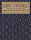 Libro Contabile Registro Entrate Uscite: 106 Pagine   Formato A4  