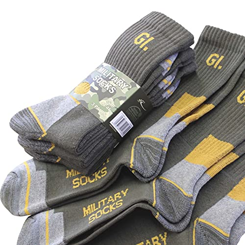 Sockswear Herren Military Army BW Socken   mit verstärkten Bereichen  robuste Qualität   Größe 43-46   Military-Grün