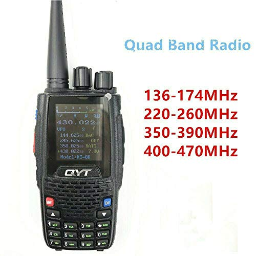 QYT KT-8R Quad Band Handheld walkie Talkie 144Mhz/430Mhz/245mhz/350Mhz Color Display 5w ham Radio Dual Band Quad Band
