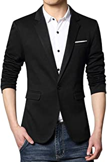 Men's Blazer Slim Fit Casual One Button Suits Coat Solid Blazer Business Jacket Goosun Single Breasted Blazer Suit for Sel...