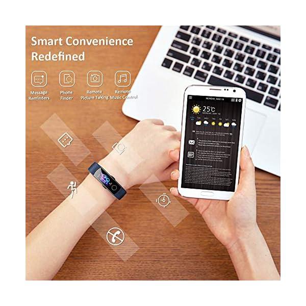 HONOR Band 5 Pulsera Actividad Inteligente Pulsera de Actividad con Pulsómetro SpO2 Sueño Podómetro Monitor de Actividad… 7