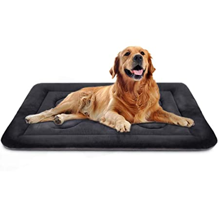 Dog Bed Large Crate Mat 42 in Non-Slip Washable Soft Mattress Kennel Pads