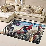 Zmacdk Alfombra pequeña de Spiderman para camping, regalos para niños, sala de juegos, dormitorio, 6 x 7 pies (180 x 210 cm), Spiderman