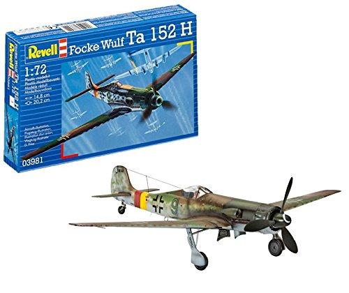Revell- Focke Wulf Ta 152 H Maqueta Avión, 10+ Años, Multicolor, 14,8cm (03981)