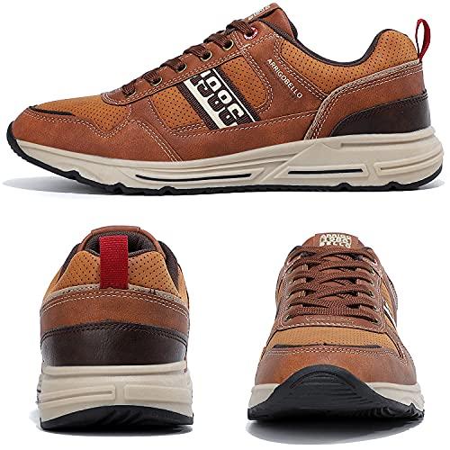 AX BOXING Zapatillas Hombres Zapatos para Sneakers Deportivas Running Correr Gimnasio Transpirables Casual 41-46 (42 EU, Marrón)