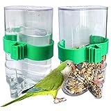 Alimentador Automático De Pájaros Para Loros Dispensador De Agua Para Pajaros Mascotas Alimento Automático Alimentador De Pájaros Agua Comedero Automático Para Pajaros Para Loros Pájaros Animales 2PCS
