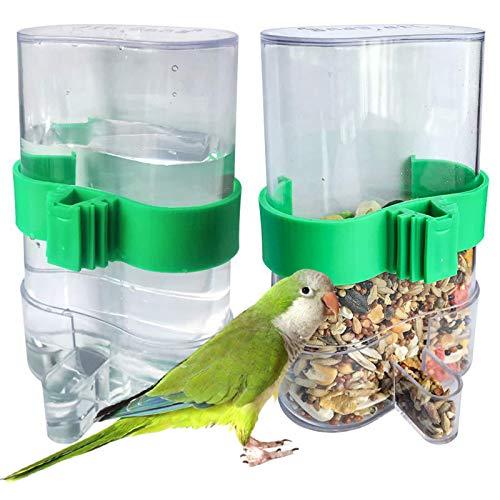 Futterspender Vogel Wasserspender Automatischer 2 Stücke Papagei-Trinkflasche Vogel-Wasserspender Vogel Automatische Wasserspender Futternapf Trinkflasche Für Vögel Wellensittich Für Vögel Papageien