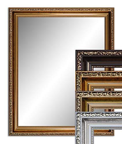 40 x 30 cm (37 x 31 cm), Antik Spiegel, Alte Spiegel, Stabiler Rückwand, Rahmen Farbe: Dunkel Gold
