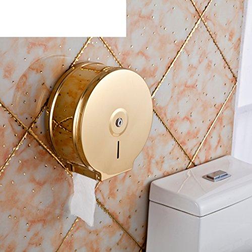 De roestvrijstalen toiletrolhouder, grote papierrollen kartonnen doos, weefsel, badkamer tissue-boxen voor de markt-J