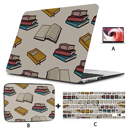 Mac Book Pro Case Thick Book Papers Characters 2017 MacBook Pro Case Hard Shell Mac Air 11'/13' Pro 13'/15'/16' with Notebook Sleeve Bag for MacBook 2008-2020 Version