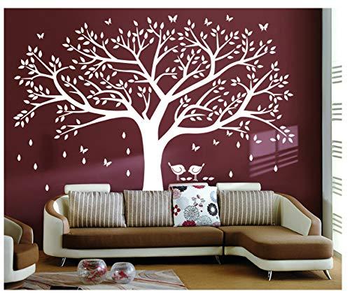 """Bdecoll Wandtattoo""""riesiger Familie Foto Baum Weiß"""" Wandsticker,DIY Dekorativ Kunst Wandaufkleber,Baum Wandaufkleber für Kinderzimmer Dekoration (Weiß)"""